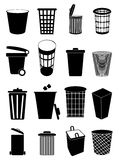 Trash Can Icons Set Stock Image