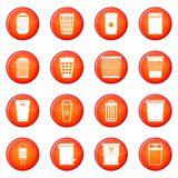Trash can icons vector set Stock Images