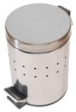 Trash can. Isolated. Stainless steel rubbish can isolated over white Royalty Free Stock Images