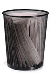 Trash can. Isolated Stock Image