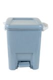 Trash can isolated. Blue trash can isolated Stock Photography