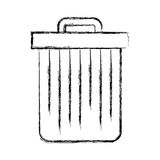 Trash can isolated. Vector illustration graphic design Stock Images