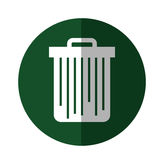 Trash can isolated. Vector illustration graphic design Royalty Free Stock Photography