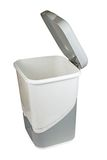Trash can with lid isolated Royalty Free Stock Images