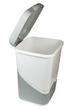 Trash can with lid isolated. On white background Royalty Free Stock Image