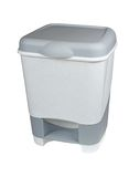 Trash can with lid isolated on white background Royalty Free Stock Photo