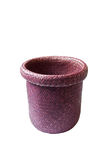 Trash can made from water hyacinth Stock Photo