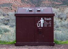 Trash Can in Many Languages Royalty Free Stock Photo
