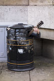 Trash Can Musician Stock Images