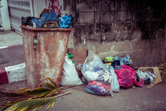 Trash can outdoors Royalty Free Stock Photos