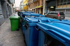 Trash can outdoors Stock Photography