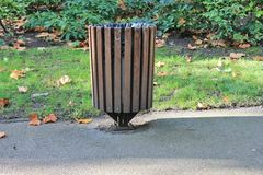 Trash can outside Royalty Free Stock Photos