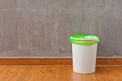 Trash Can With A Pastic Bag Inside Royalty Free Stock Photo