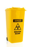 Trash can for radioactive garbage Stock Image