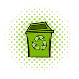 Trash can recycling eco symbol Stock Images