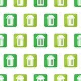 Trash can seamless Stock Photos