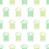 Trash can seamless Stock Photography