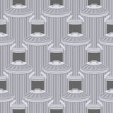 Trash can seamless pattern. Wheelie bin background. Dumpster iro Royalty Free Stock Image