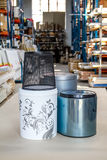 The trash can. Trash can for the kitchen or office. Furniture accessories. stock photo