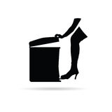Trash can vector Stock Photography