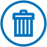 Trash can vector icon. Vector image isolated on white background Stock Photography