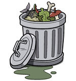 Trash can royalty free illustration