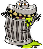 Trash can. Vector illustration of Monster Trash can Stock Images