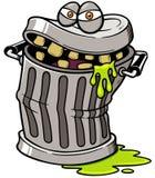 Trash can royalty free illustration