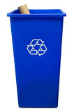 Trash can on white background with a roll of paper Royalty Free Stock Photography