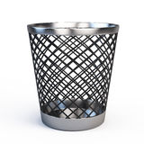 Trash can  on white Stock Photo