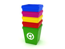 Trash cans Stock Photography