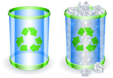 Trash cans. Royalty Free Stock Image