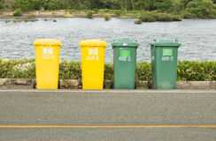Trash Cans. For Garbage on street Stock Photo