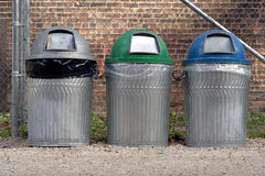 Trash cans Royalty Free Stock Images