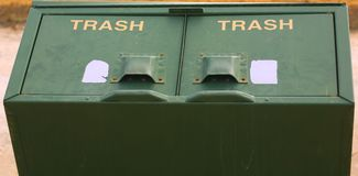 Trash Cans Stock Image