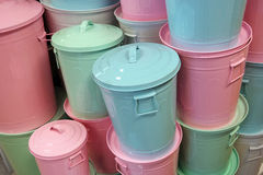 Trash Cans Stock Photo