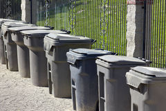Trash Cans Single Line Stock Photo