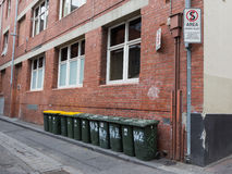 Trash cans on the streets of Melbourne Royalty Free Stock Photography