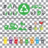 Trash categories recycle garbage bin Royalty Free Stock Photo
