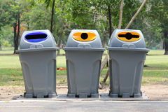 Trash Classify of object filth to the use for recycled. Stock Photography