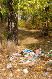 Trash close to the River Stock Photography