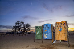 Trash collection un na Royalty Free Stock Photography