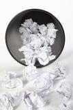 Trash complètement du papier Photo libre de droits