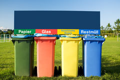Trash containers. For garbage separation Royalty Free Stock Photo