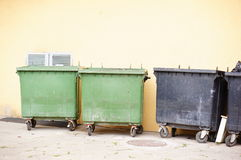 Trash containers Stock Image