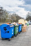 Trash Containers on the Street  in Germany Stock Photos