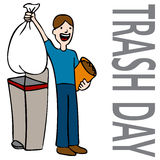 Trash Day Man Stock Photography