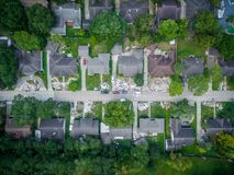 Trash and debris outside of Houston homes. Devastated after Hurricane Harvey royalty free stock photo