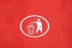 Trash disposal symbol Royalty Free Stock Photography