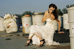 Trash the dress Stock Images